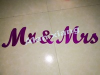 free shipping Mr And Mrs Wedding Letters Wedding Reception Top Table Decoration Bride And Groom To Be
