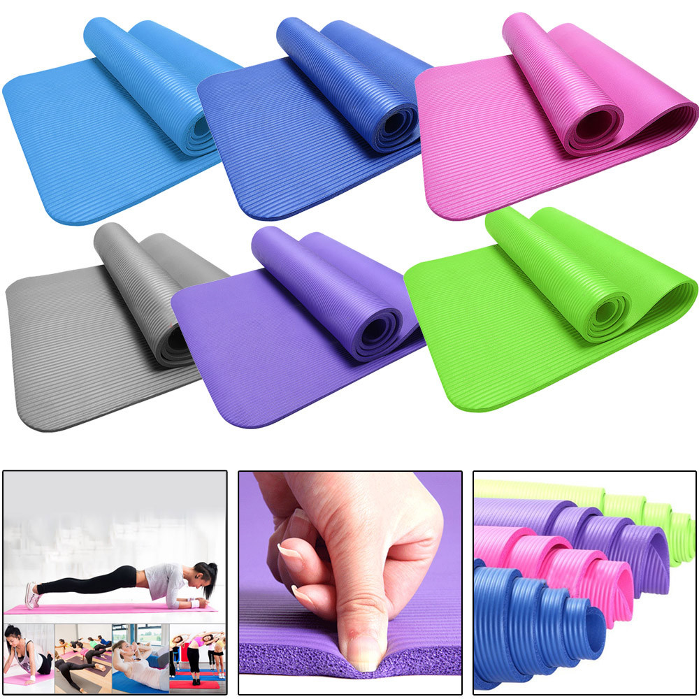 15MM NBR Thick Durable Yoga Mat Non-slip Exercise Fitness Pad Mat Lose Weight Baby Crawling Mat Outdoor Mat 183x61x1.5cm 2018 brand new 6mm thick yoga mat non slip durable exercise fitness gym mat lose weight pad yoga mat