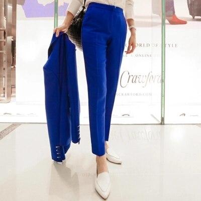 Bureau Travailleur Pantalon Deux Femmes De Travail Costume Tempérament Mode Femelle Dames piece Automne Nouveau printemps Lieu 1 Suit 7P6qw65z