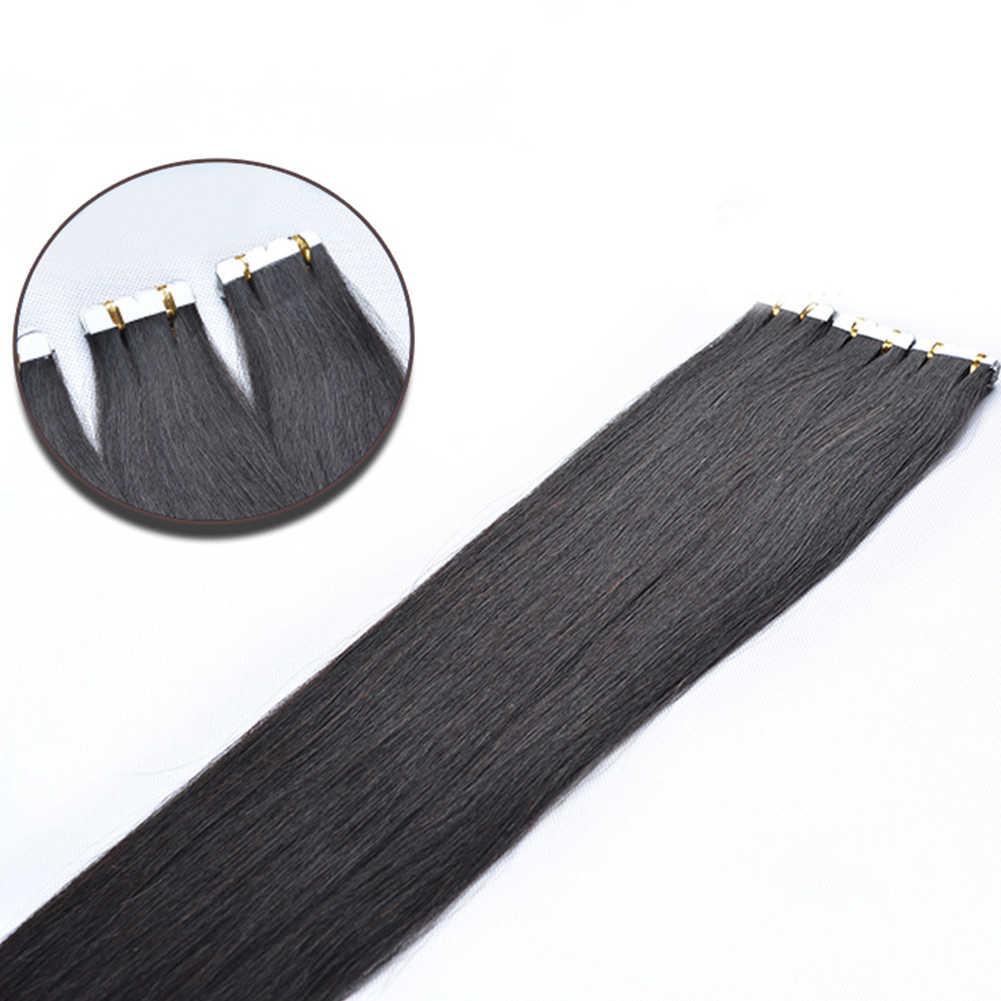 100% необработанные человеческие волосы парики натуральные волосы прямые черные парики бесшовные наращивание волос натуральный цвет 45-80 см