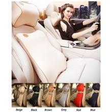 2Pcs/Set Universal Car Cushion Neck Pillow Memory Cotton Super Soft Fabric Foam Auto Seat Cover Headrest Pillows