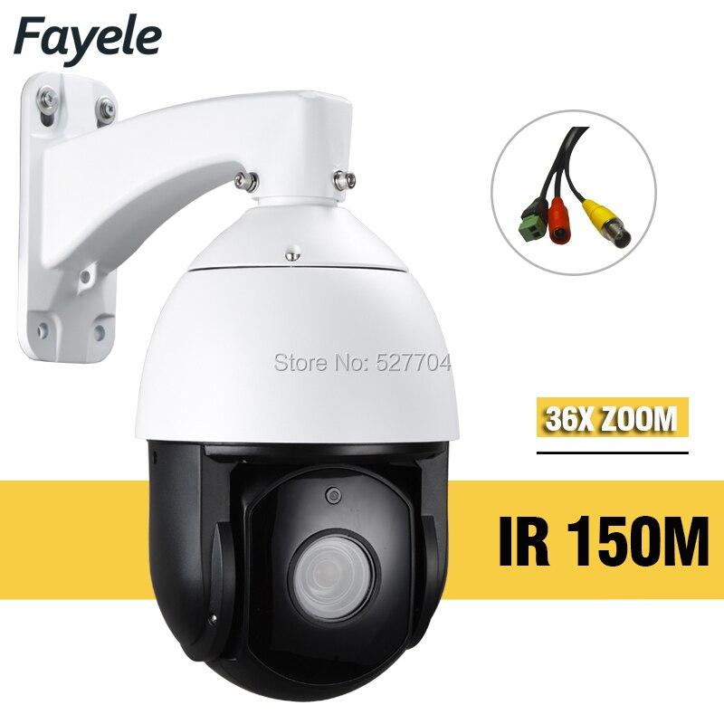 IP66 Sécurité Extérieure 6 Vitesse Dôme Caméra PTZ Analogique 960 H AHD 36X ZOOM D'inclinaison de Casserole de Surveillance de Nuit IR 150 m Laser Led