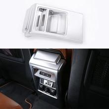 Серебристый Хром заднего сиденья кондиционер Выход Обложка отделка Стикеры для Land Rover Discovery Спорт 2015-2017 автомобилей стайлинг ABS