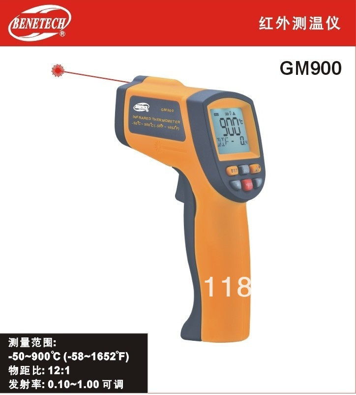 Digital Non-Contact Infrared IR Thermometer Laser GM900 ,gift for free  цена
