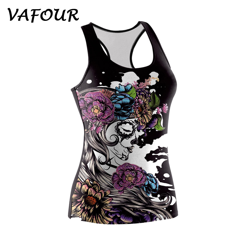 summer casual sle eveless black tank tops women 3d printed zombies All Saints Day tank vest polyester fitness gegular shirt