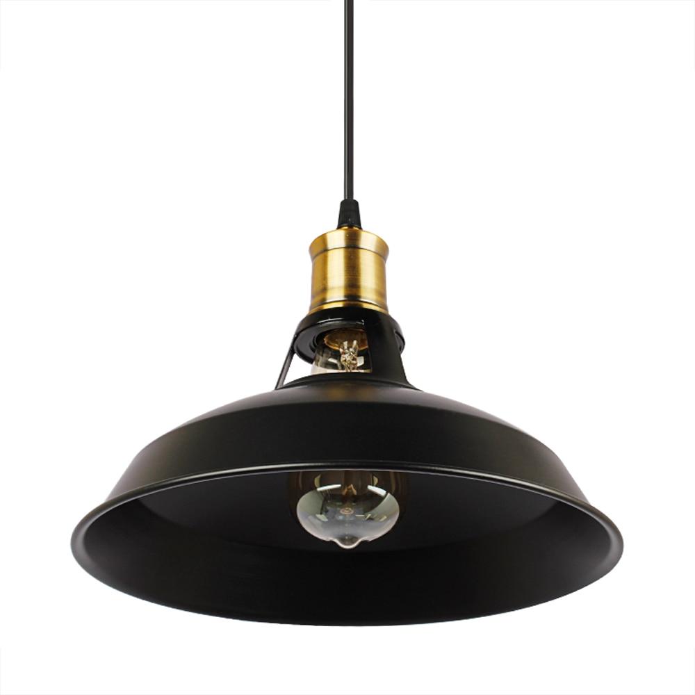 Loft pendant Lamps Industrial Pendant Lights Vintage Edison Hanging Lamp E27 110 220V For Home Restaurant decorate light shade