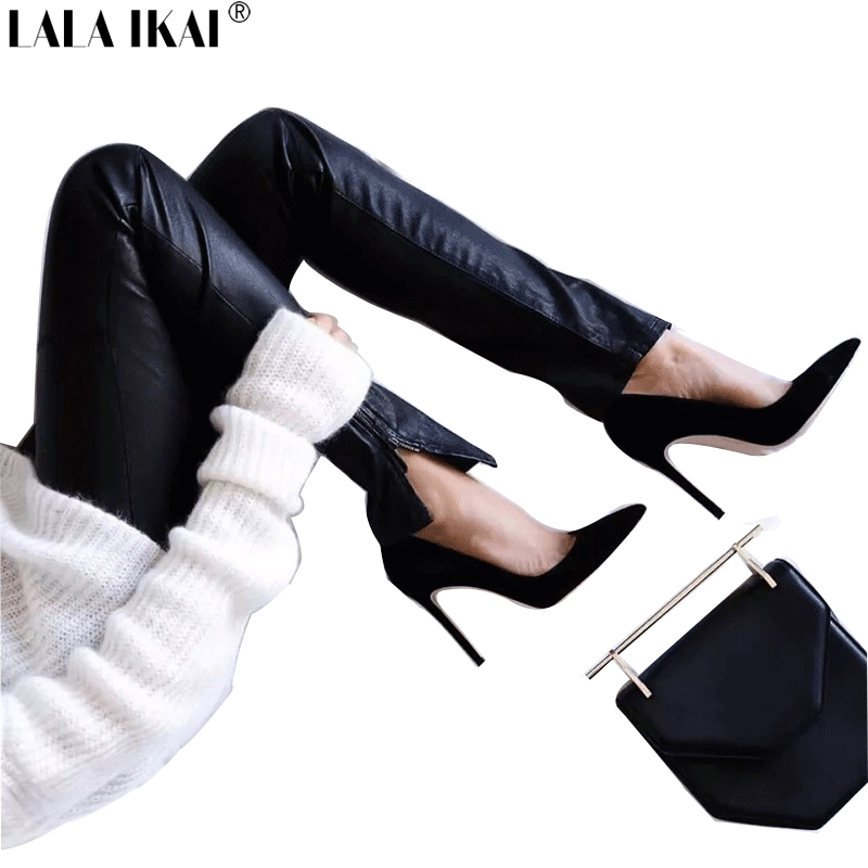 LALA IKAI Women Pumps High Heels Spring Pointed Toe Sexy Shoes Soft Ladies Shoes Thin Heel Office Party Shoes XWC0474-5 недорго, оригинальная цена