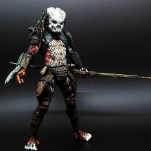 Aliens vs Predator AVP Ganso Lone wolf Joint move doll movie Person Model Decoration figure Toys gift computer table decorate 18cm neca aliens action figure ricco frost private figure toy with weapon helmet alien vs predator avp model doll