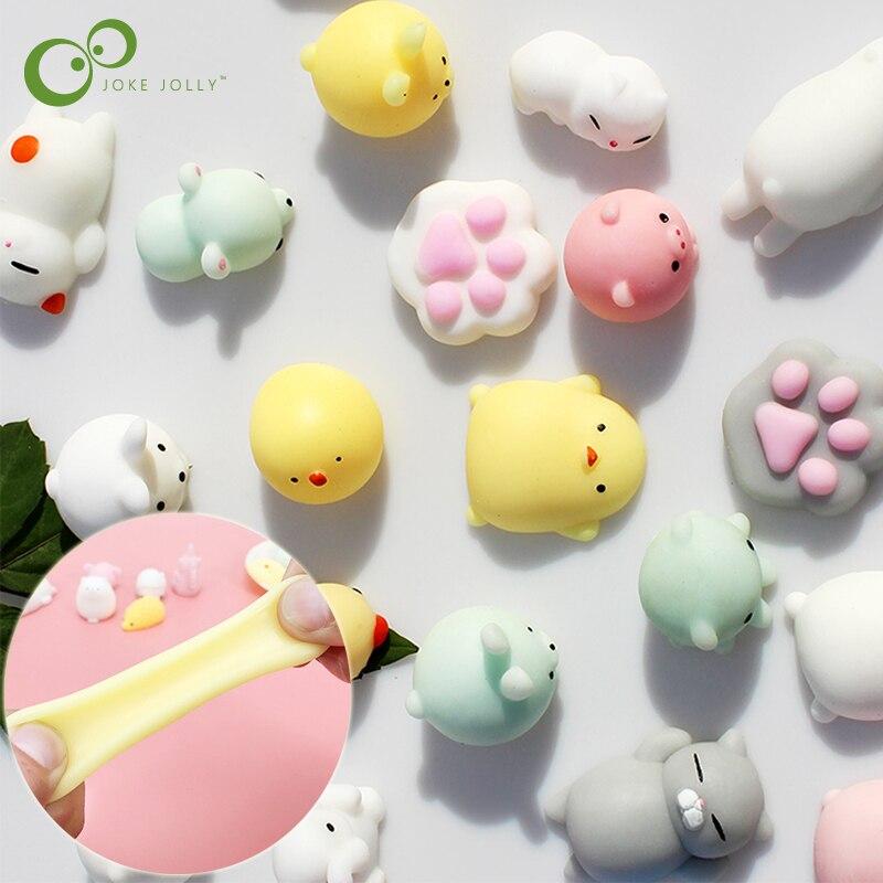 10 adet tüm farklı sevimli Mochi Squishy kedi yavaş yükselen Squeeze şifa eğlenceli çocuklar Kawaii çocuk yetişkin oyuncak stres giderici dekor GYH