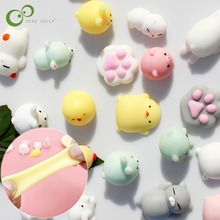 10Pcs All Different Cute Mochi Squishy Cat Slow Rising Squeeze Healing Fun Kids Kawaii Kids Adult Toy Stress Reliever Decor GYH