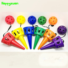 Happyxuan Outdoor Plastic Throwing Ball Children's Sensory Equipment Hand-Eye Coordination Sports Toys