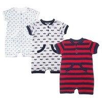 Newborn Baby Boy Bodysuits Short Sleeve Car Shirt 100cotton Clothes Infant Jumpsuit Plain Clothing Christmas Animal
