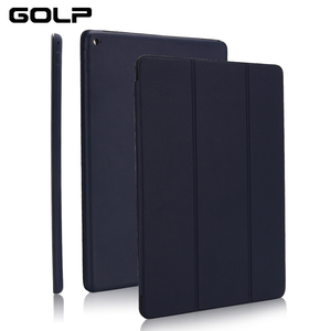 """Ultra Slim Smart Cover for iPad 10.2 2019, GOLP Shockproof PU Leather Flip Case for iPad 7 7th 10.2"""" A2200 A2198 A2197 case(China)"""