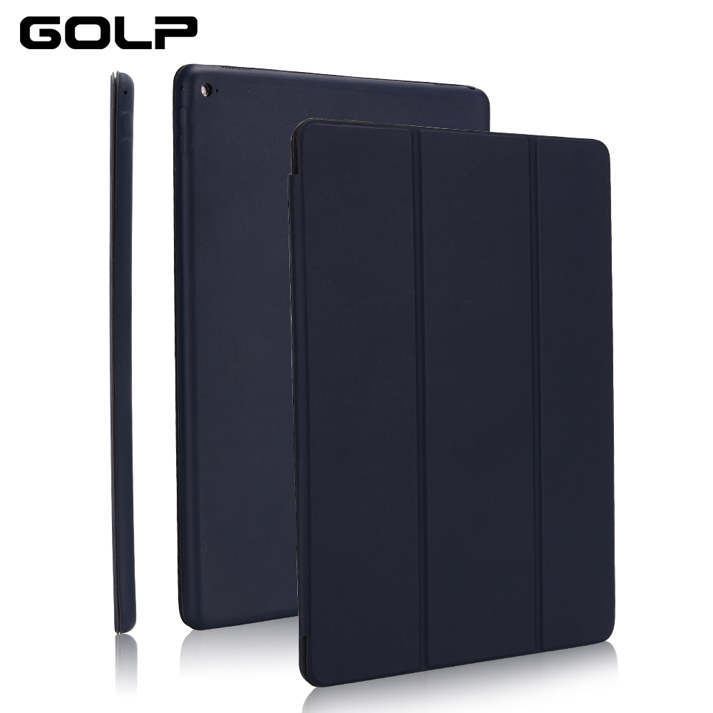 Ultra Slim Smart Cover For IPad 10.2 2019, GOLP Shockproof PU Leather Flip Case For IPad 7 7th 10.2