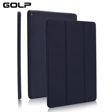 "Ultra Slim Smart Cover for iPad 10.2 2019, GOLP Shockproof PU Leather Flip Case for iPad 7 7th 10.2"" A2200 A2198 A2197 case(China)"