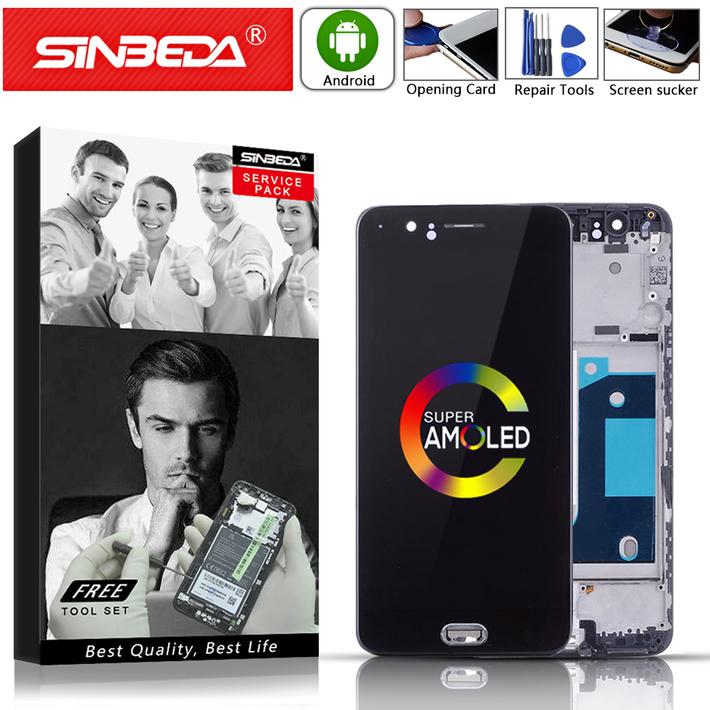 Pantalla LCD OLED de 5,5 para Oneplus 5 A5000 pantalla táctil con digitalizador de marco para OnePlus 5 Disponible para uno plus 5 1 + 5 A5000 LCDs