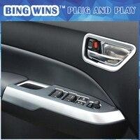 Car Styling ABS Chrome Interior handle Armrest Cover Sequins For SUZUKI Vitara 2015 2016 Window Lifter Button Frame Trim