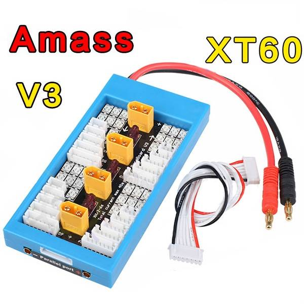 Amass V3 XT60 Plug Lipo Parallel Charger Board vi ham cm 03 or vi ham em 03