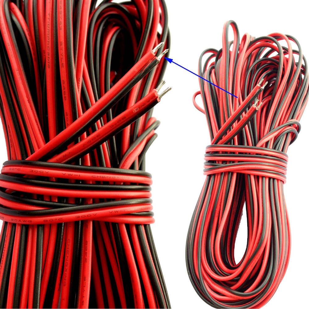 Aliexpress.com : Buy 40FT 20 Gauge Extension Cable Wire Cord 20AWG ...
