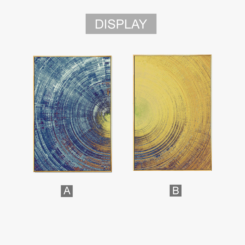 Modern Abstract Circular Trace Canvas Painting Poster Print ...