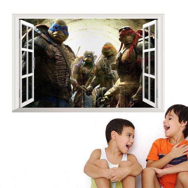 Cartoon Teenage Mutant Ninja Turtles Wandaufkleber für Kinderzimmer ...
