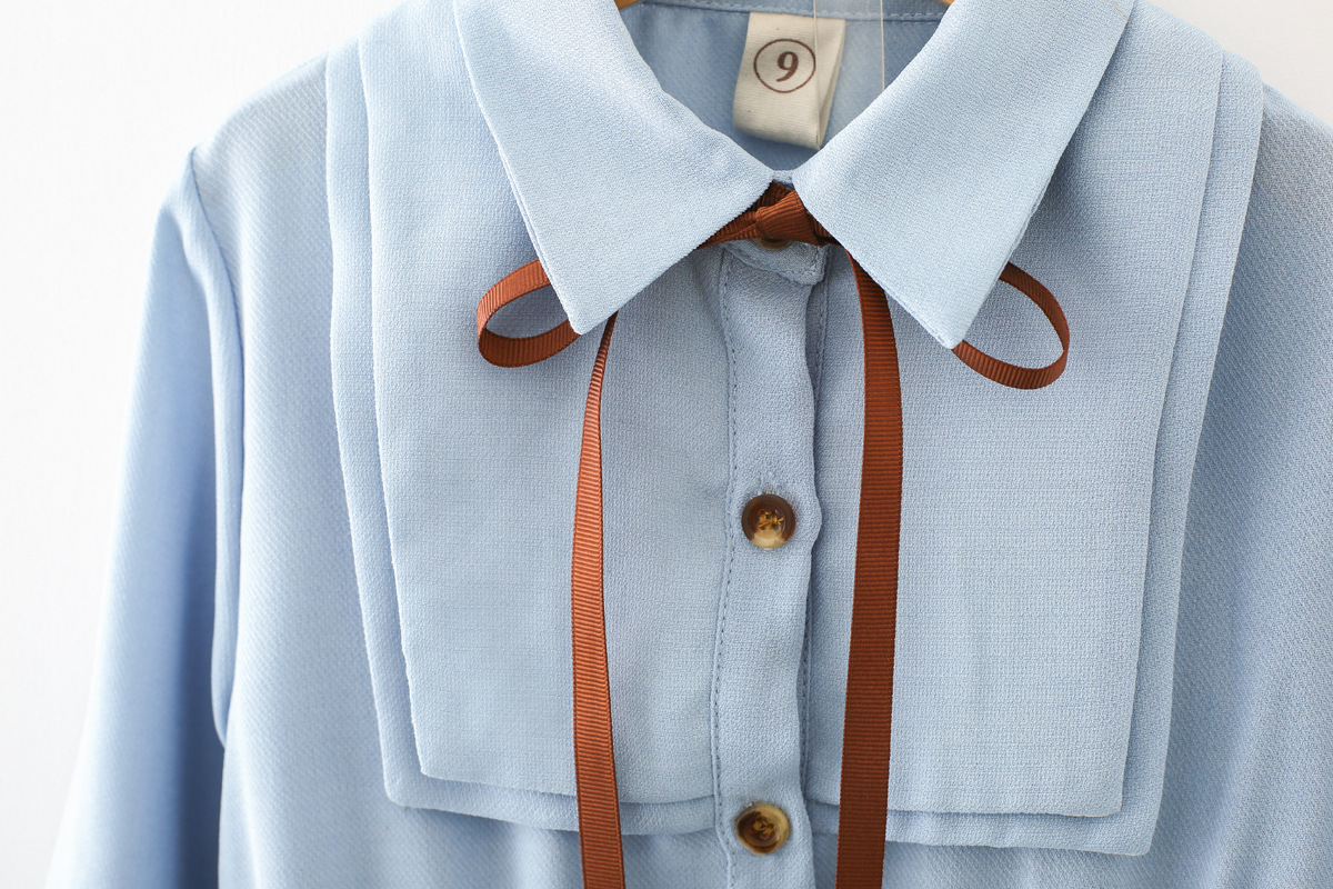Meisjes taille lange mouwen chiffon hoge kwaliteit schattige borst - Kinderkleding - Foto 5