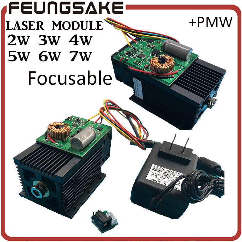 DIY Focusable 5W laser module 5 5w Laser Module 7w High power For CNC Cutter laser
