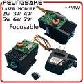 DIY Fokussierbar 5 Watt lasermodul 5,5 watt Lasermodul, 7 watt High-power Für Cnc-fräser laser Graviermaschine, 2 watt 2,5 watt lasermodul 445nm
