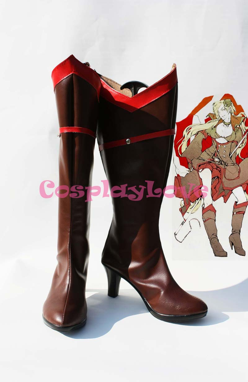 Custom Made Denmark Cosplay Shoes Boots from Axis Powers Hetalia Cosplay For Halloween Christmas