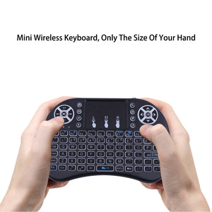 Image 4 - Mecool Mini Draadloze Toetsenbord Engels 2.4Ghz I8 Touchpad Fly Air Mouse Voor Android Tv Box Afstandsbediening Mini Pc met Touchpad