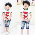 Lindo Verano Kid Niño Sandía Tops Cozy Camiseta Infantil Chicos de Manga Corta Camiseta