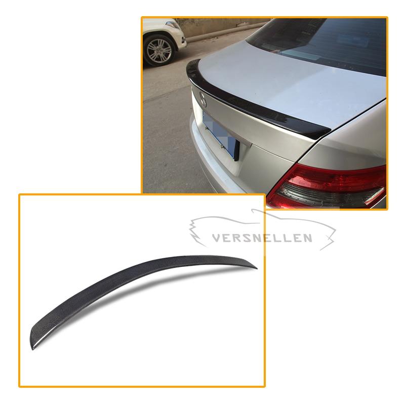 AMG Style Trunk Rear Spioler For Mercedes W204 C63 Amg Carbon Fiber Lid Wing 2008 2014 C Class 4 Door Sedan W204 Carbon Spoiler