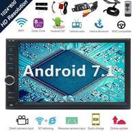 Android 7,1 стерео радио Octa Core Bluetooth gps навигации Поддержка Wi Fi Зеркало Link USB SD резервного Фронтальная камера Сенсорный экран