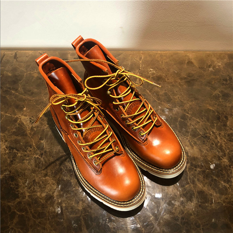 2019 Handmade Ankle Boots Quality Vintage Men Spring Casual Shoes Luxury Design Big Size Outdoor Safety Work Motorcycle Boots