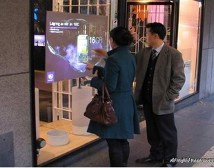 On sale! 42 dual interactive transparent capacitive touch foil Film through glass window shop for touch kiosk, table etc