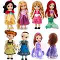 27-30 см Boneca София первый принцесса девушка куклы Baby toys принцесса Русалка Анна Эльза Belle Ариэль Рапунцель шарон куклы