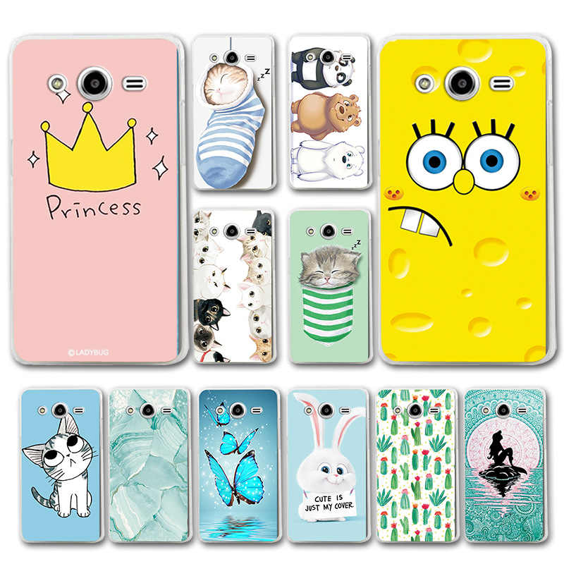 Phone Bags For Samsung Galaxy core2 core 2 SM G355H Case Cover Various Animal Cat Dark Silicone Case G355M SM-G355h/ds Duos 4.5""
