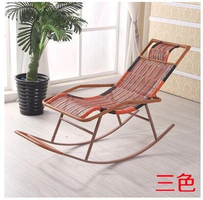 Adult Rocking Chair PE Rattan Chaise Longue Lazy Balcony Relaxation In Lounge From Furniture On Aliexpress