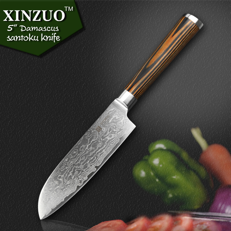 XINZUO 5 Japanese chef font b knife b font 73 layers VG10 Damascus steel kitchen font