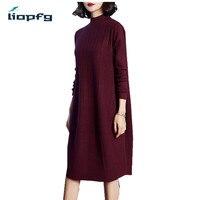2018 New Fashion Women S Spring Autumn Winter Wool Sweater Dresses Ladies Knitting Dress Women Loose