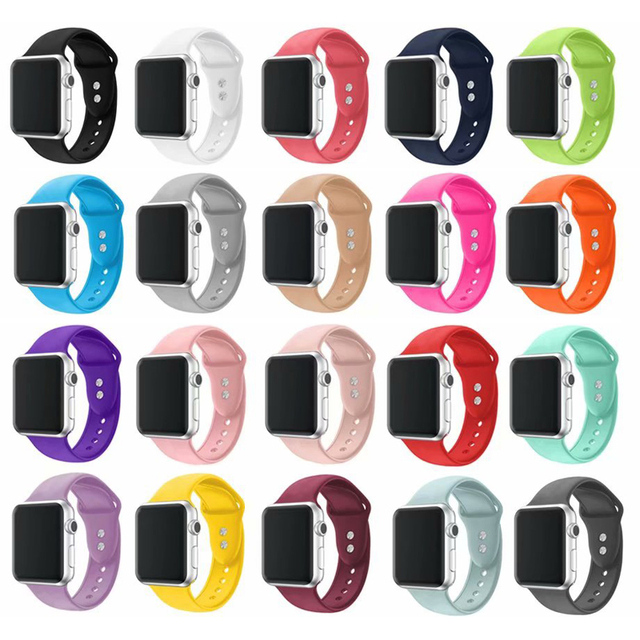 0fc81ff46 new Band For Apple Watch Series 4321 38MM 42MM Soft Silicone Breathable Replacement  Strap Sport Loop