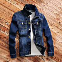 Primavera e no Outono Magro dos homens Jovens Jaquetas De Cowboy Retro Casual Roupas Jeans Men 'S Wear