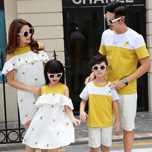 Summer Family Matching Pineapple Dress Outfits