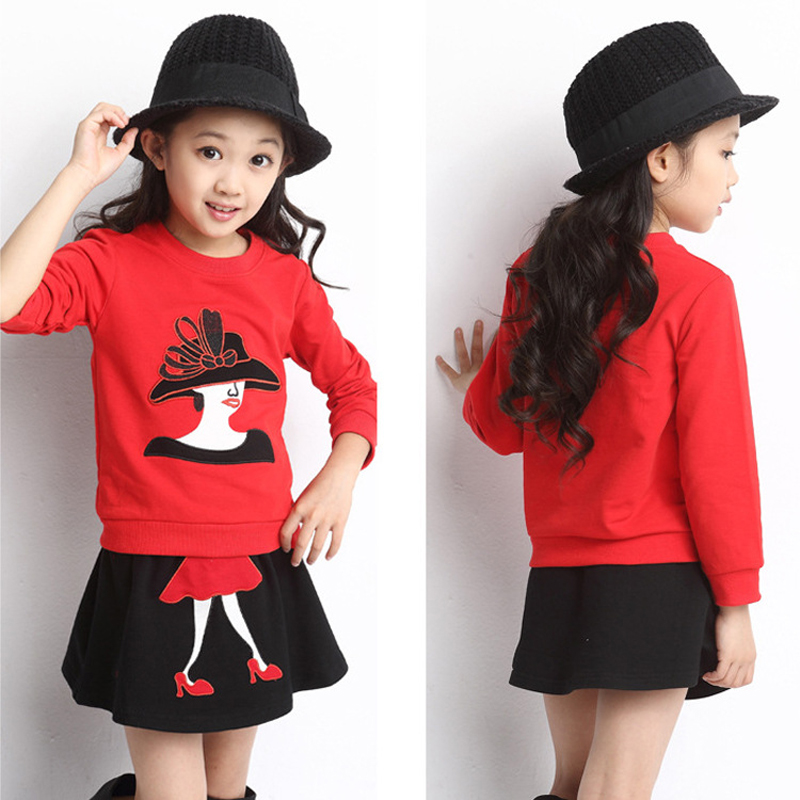 Cyjmydch Girls clothing sets long sleeve tops and skirts suits party and wedding baby girls clothes casual kids clothing