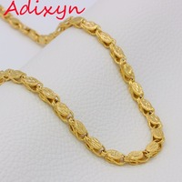 Adixyn Lengte 60 cm Breedte 7mm, Ethiopische Dikke Kettingen Mannen Vrouwen Goud Kleur/Koper Afrika Eritrea Chunky Chain/Dubai/Arabische Items
