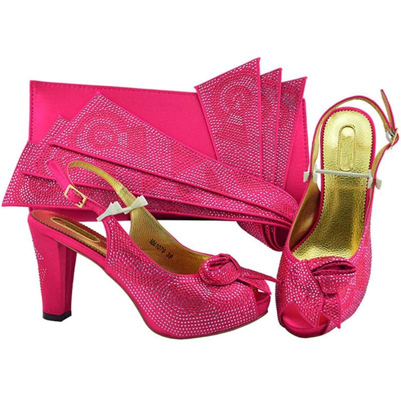 Blue Sac sliver purple Italiennes magenta Talons fuchsia teal Chaussures gold Partie Pour pink Strass Soirée Pompes 2018 Femmes Assorti Haute Avec Royal Et Africaines Ensemble nON08mwv