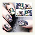 YZWLE 1 Sheet DIY Decals Nails Art Water Transfer Printing Stickers Accessories For Manicure Salon YZW-8182