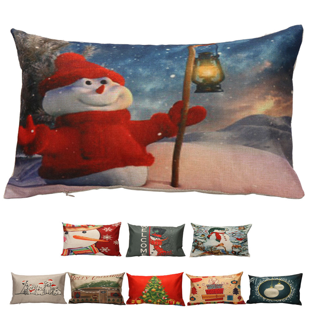 Online Shop Cushion Cover Santa Claus Snowman Christmas Tree Pattern Nordic Pillow 30cm*50cm Throw Pillow Covers Outdoor Cushion Covers #20 | Aliexpress ...