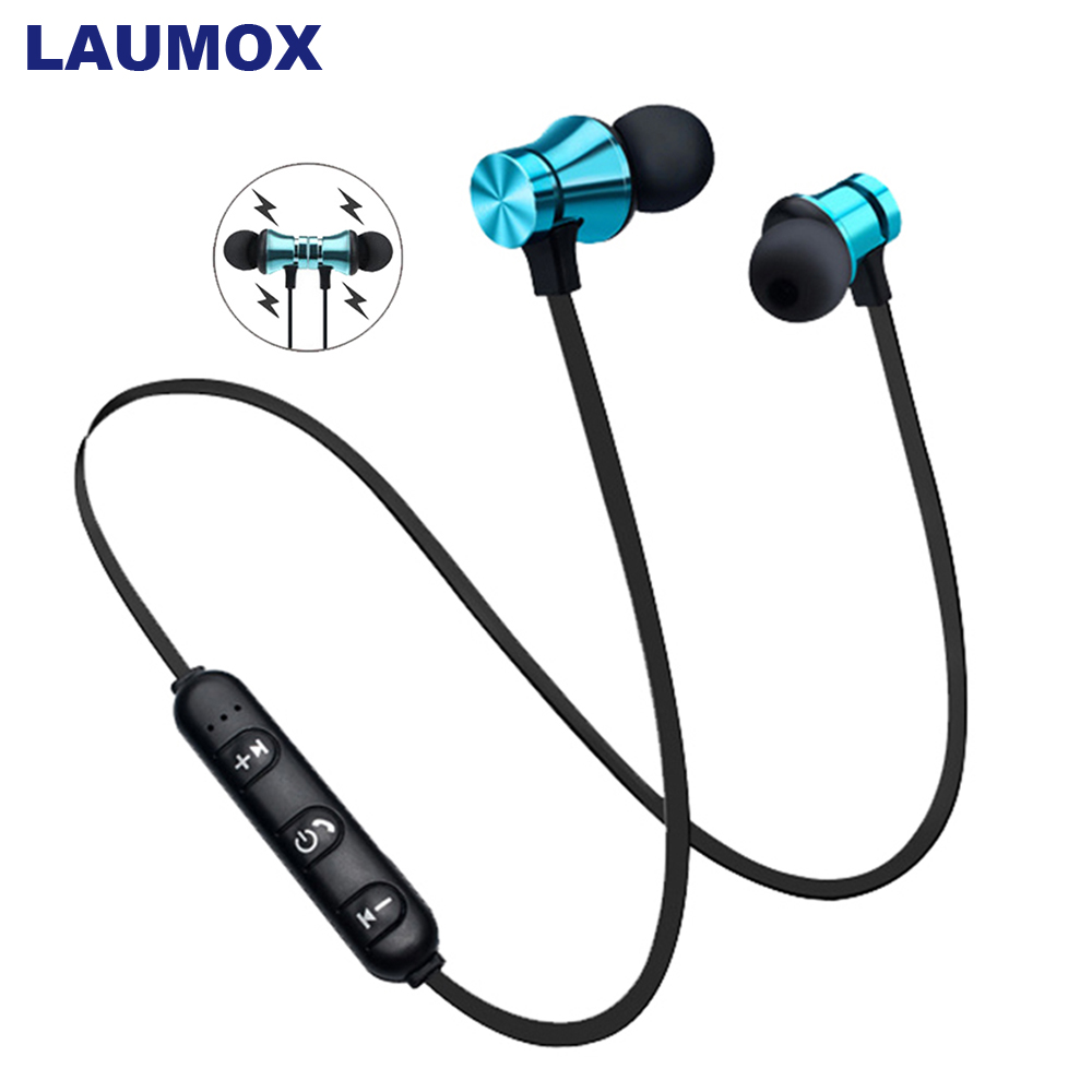 LAUMOX Magnetic Music bluetooth Earphone 4.2 XT11 Sport Neckband Wireless Headset Waterproof With Mic For Xiaomi Headphones(China)