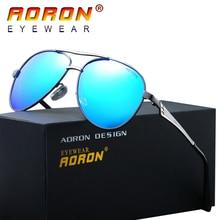 AORON Brand LOGO Design Men Polarized Sunglasses Driving Goggles UV 400 Coating Mirrored Glasses oculos de sol Eyewear A390